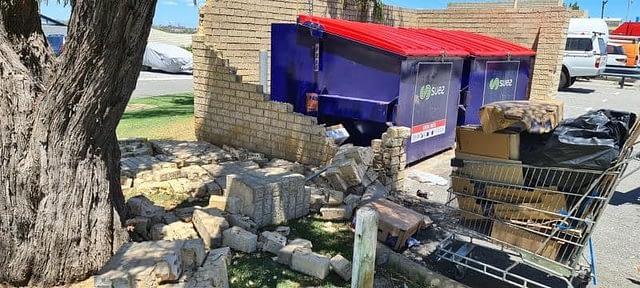 Vehicle Damaged Brick Wall