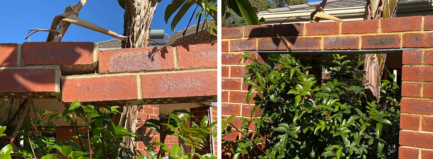 Lintel Project Before & After